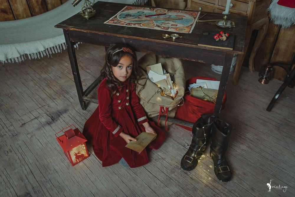 fotografo ninos mini sesion navidad book en estudio valencia vintage fotografia toni lara